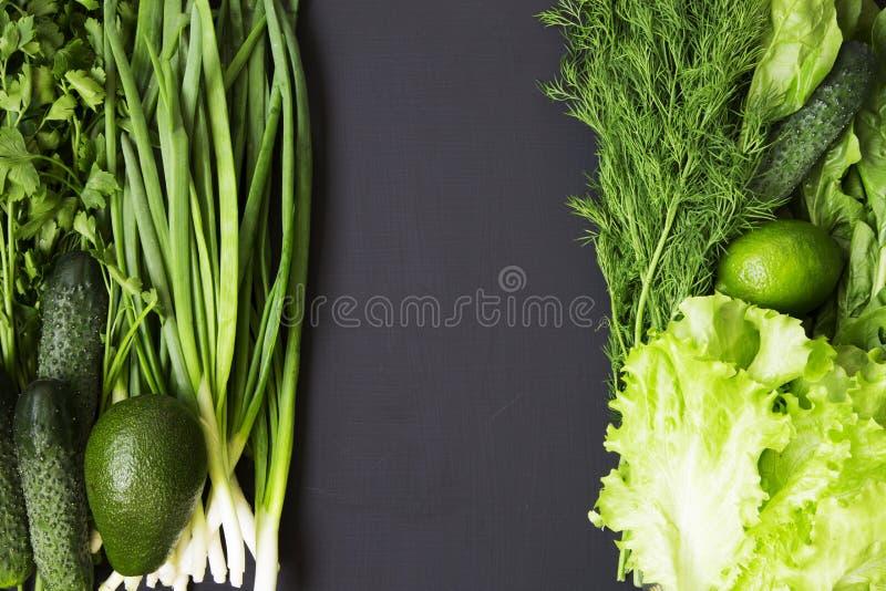 Jarscy obiadowi składniki Zdrowy karmowy conept Zielona veggies grupa Zielona warzywo rozmaitość zdjęcie royalty free