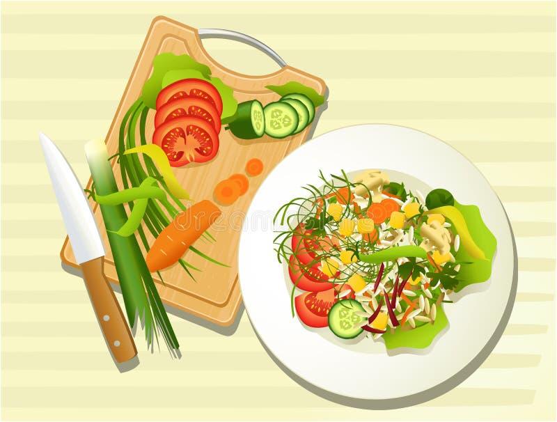 Jarska karmowa kuchnia royalty ilustracja
