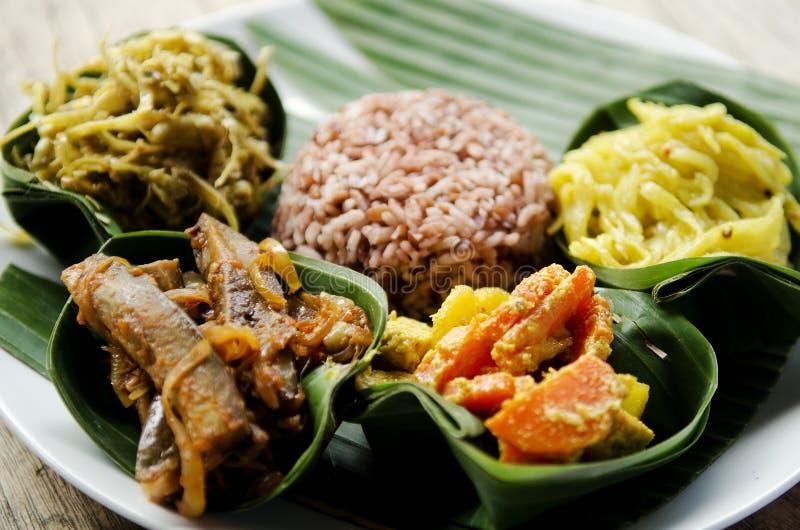 Jarski curry z ryż w Bali Indonesia zdjęcia royalty free