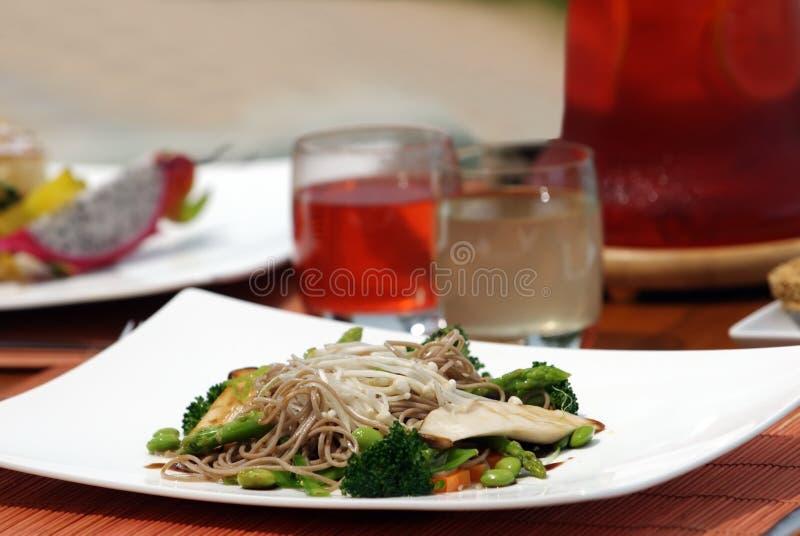 Jarski lunch i owoc dla Zdrowego fotografia royalty free