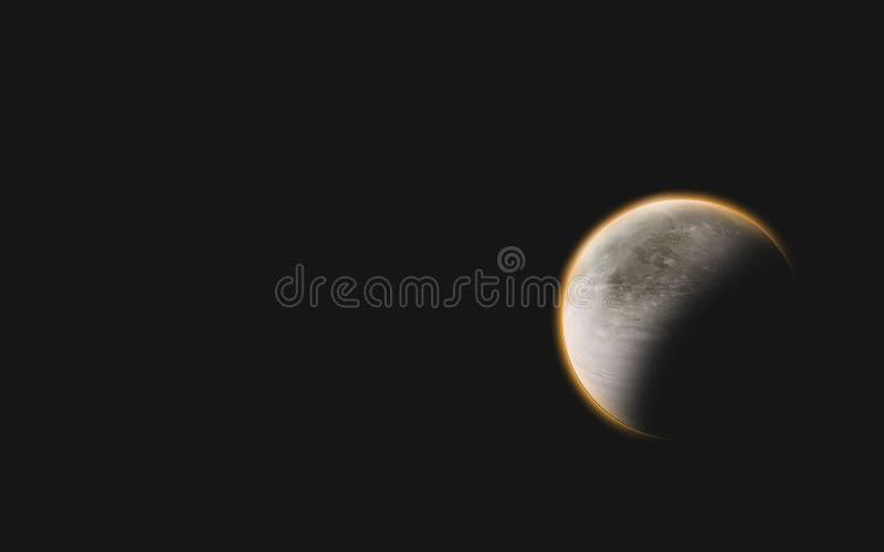 jarzeniowa pomarańczowa planeta ilustracja wektor
