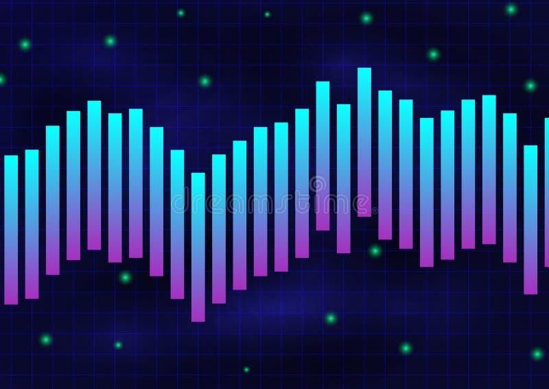 Jarzeniowej fiołkowej niebieskiej linii tekstury monochromatyczny tło ilustracja wektor