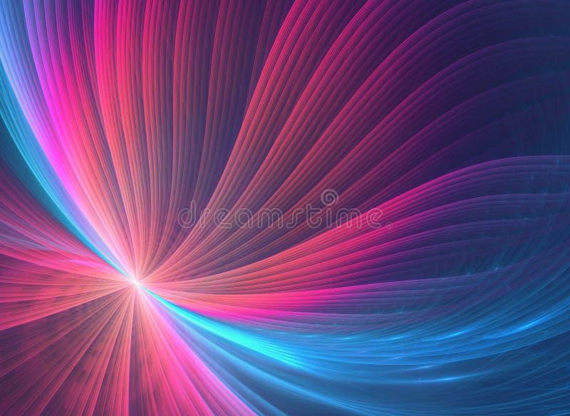 Jarzeniowy fractal z różowym zawijasa wzorem ilustracji