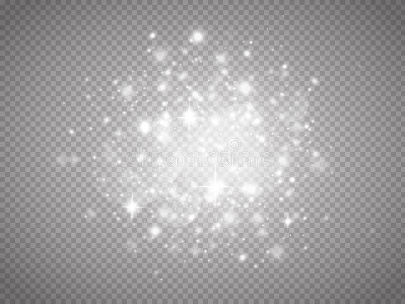 Jarzeniowy magiczny lekki skutek ilustracja wektor