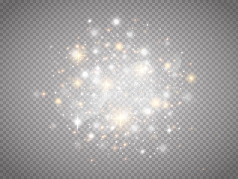 Jarzeniowy magiczny lekki skutek royalty ilustracja