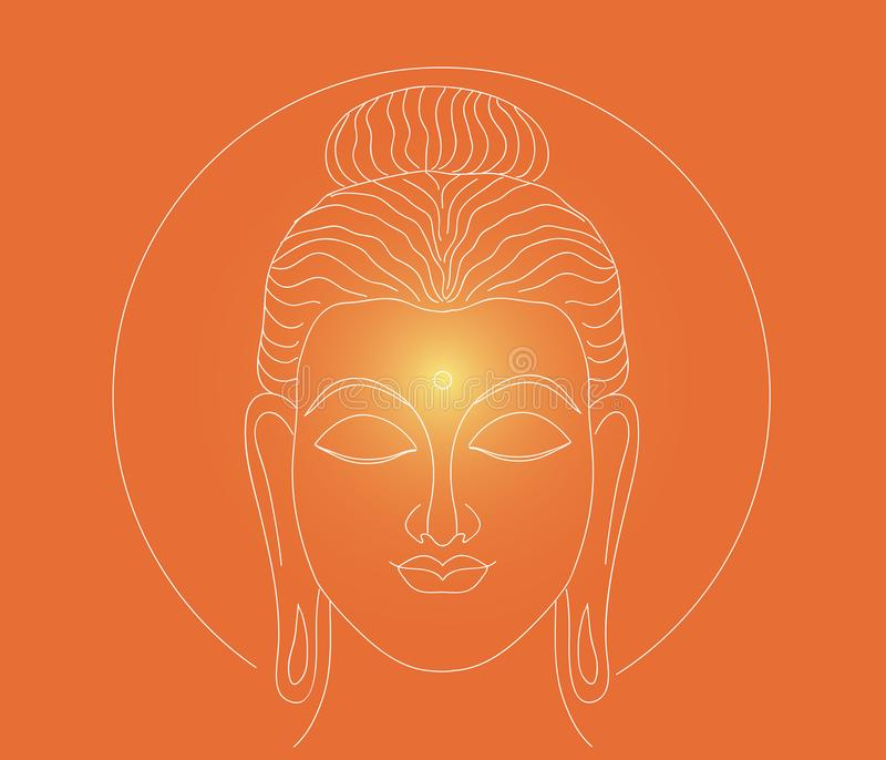 Jarzyć się Buddha firmant ilustracja wektor