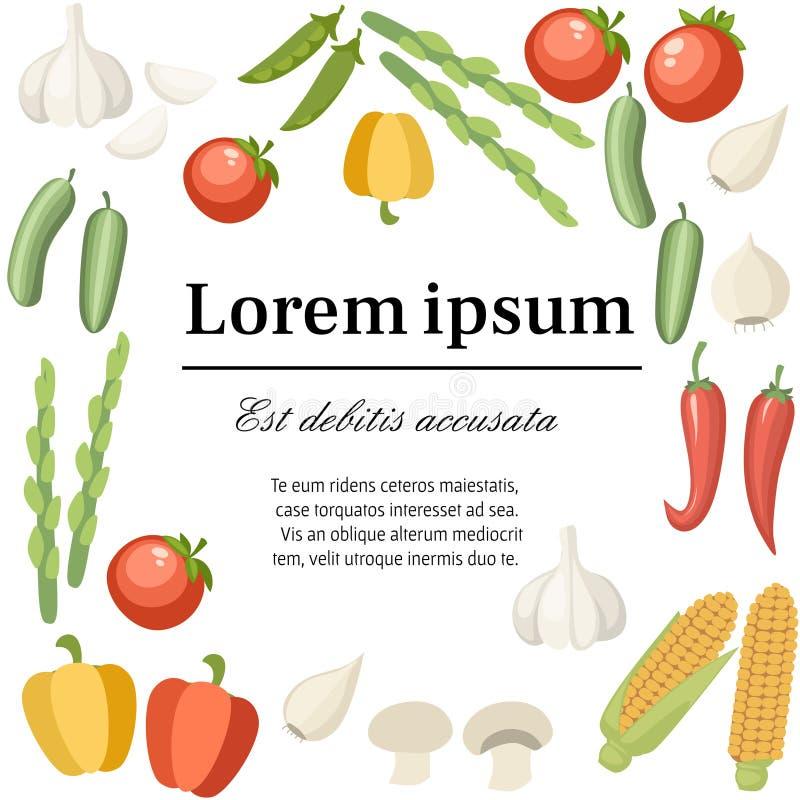 Jarzynowa inkasowa ikona Set pieprz, czosnek, kukurudza, zielony groch i etc, Rolnictwa i jedzenia ikony projekt mieszkanie ilustracja wektor