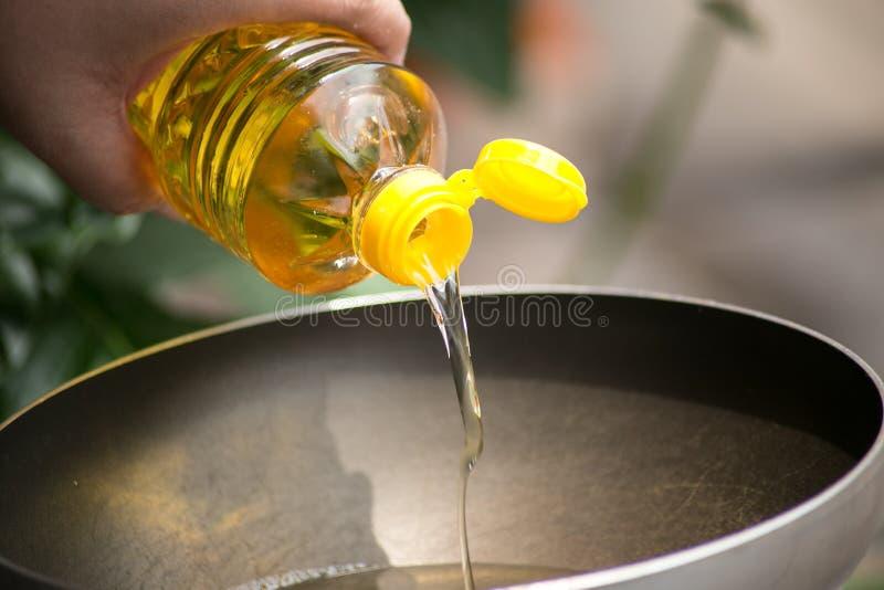 Jarzynowy olej dla jedzenia obraz royalty free