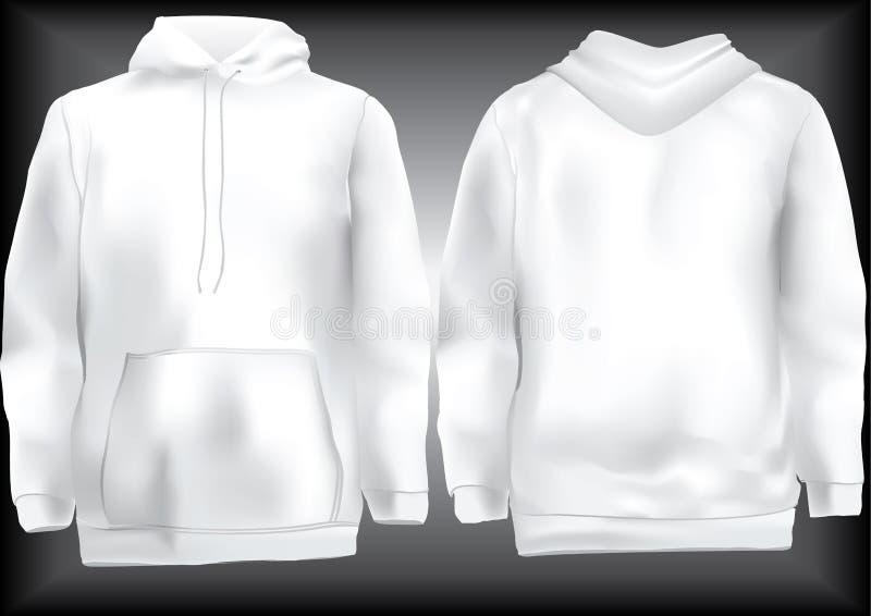 Jasje of sweatshirt of hoodie malplaatje stock illustratie