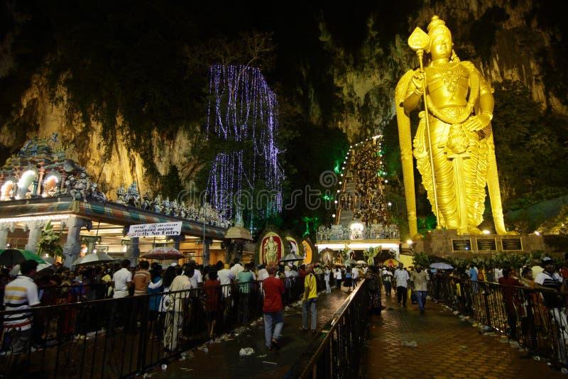 jaskiniowy batu thaipusam fotografia royalty free