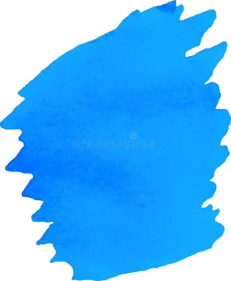Jaskrawa błękitna akwareli plama ilustracji