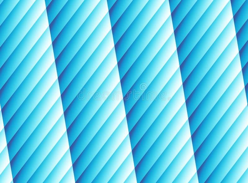 Jaskrawa błękitna nowożytna abstrakcjonistyczna fractal sztuka Wibrująca tło ilustracja z pasiastymi kolumnami obraz przez komput ilustracja wektor