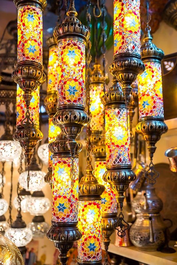 Jaskrawa barwiąca lampa obraz royalty free