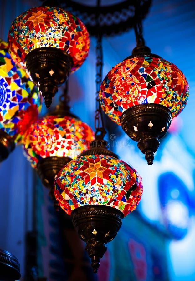 Jaskrawa barwiąca lampa zdjęcia royalty free