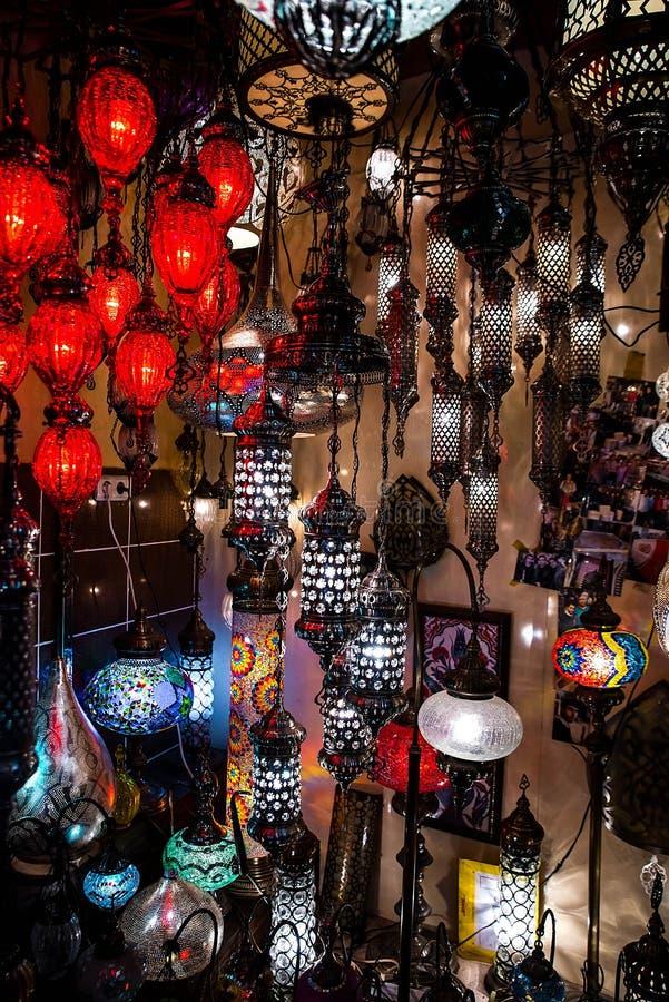 Jaskrawa barwiąca lampa obrazy royalty free