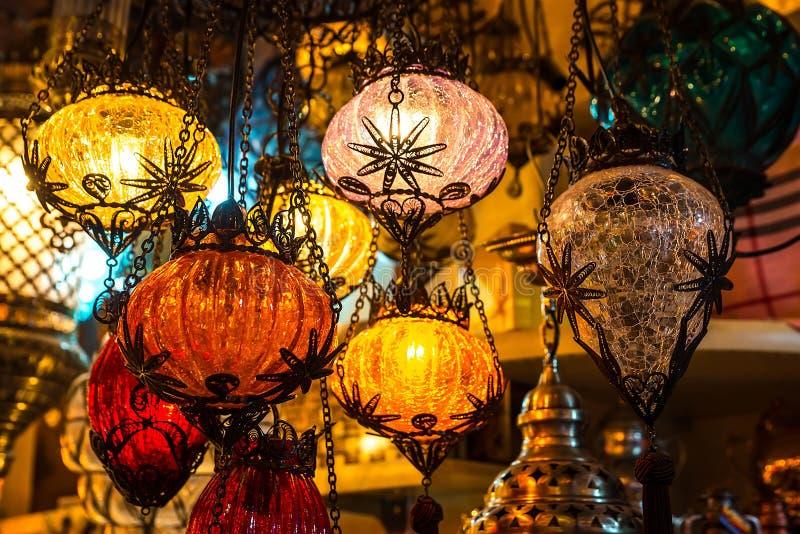 Jaskrawa barwiąca lampa zdjęcie royalty free