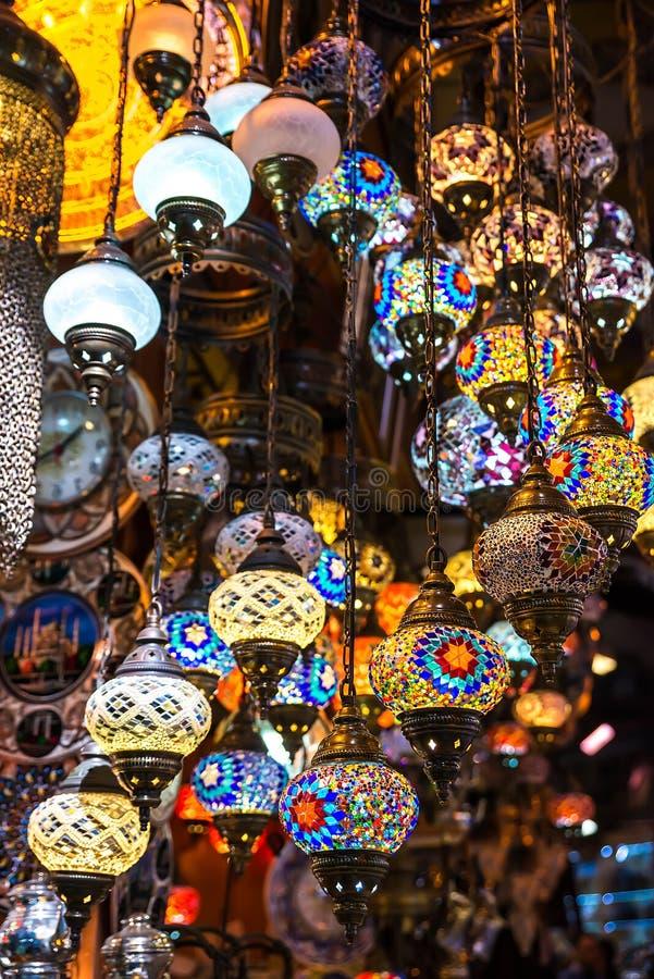 Jaskrawa barwiąca lampa obrazy stock