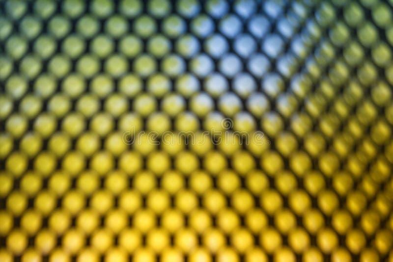 Jaskrawa barwiona DOWODZONA wideo ściana z wysokość nasycającym wzorem - zamyka w górę tła fotografia stock