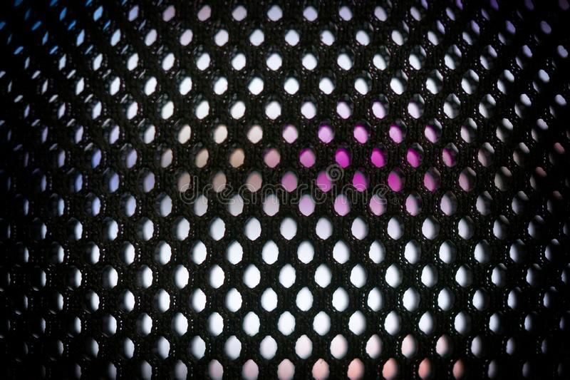 Jaskrawa barwiona DOWODZONA wideo ściana z wysokość nasycającym wzorem - zamyka w górę tła z płytką głębią pole fotografia royalty free