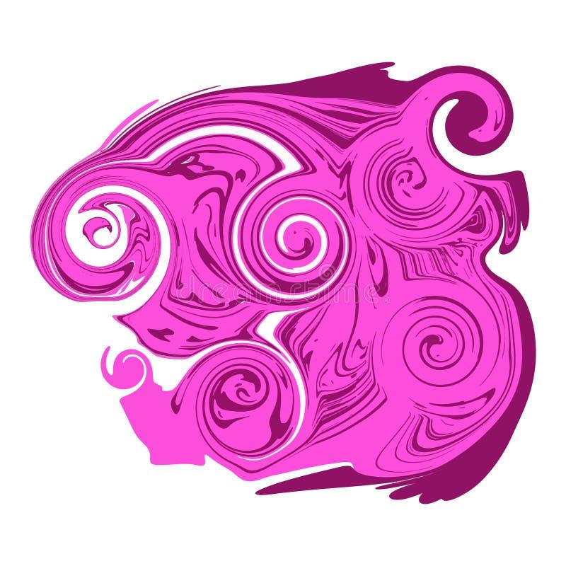 Jaskrawa brzmienie abstrakcja Imitacja marmur lub przepływ ciekłe farby ilustracji