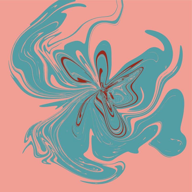 Jaskrawa brzmienie abstrakcja Imitacja marmur lub przepływ ciekłe farby ilustracja wektor