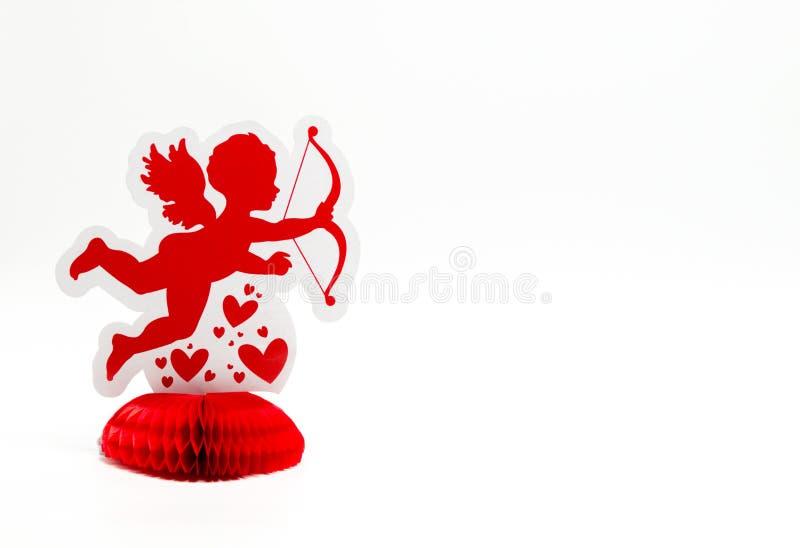 1 jaskrawa czerwona amorek dekoracja stawia czoło dobrze zdjęcia royalty free