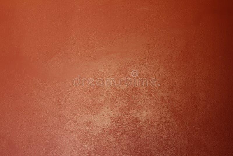 Jaskrawa intensywna czerwona pomarańczowa stiuk ściana od Sicily obrazy royalty free