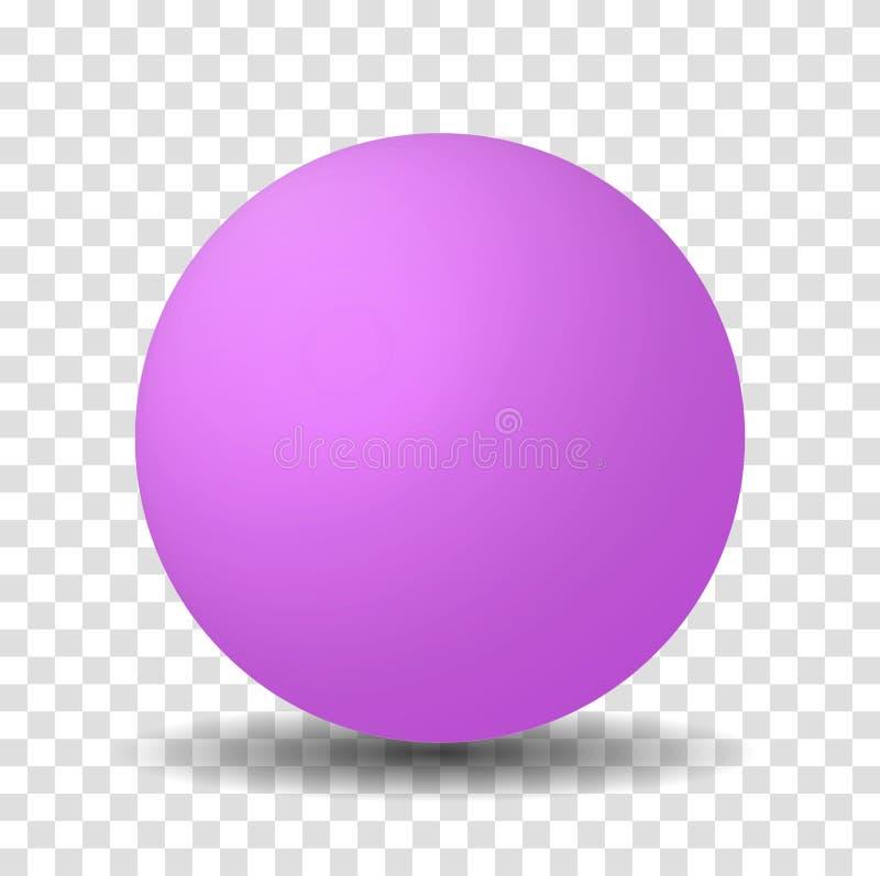 Jaskrawa menchii lub purpur sfery piłka royalty ilustracja