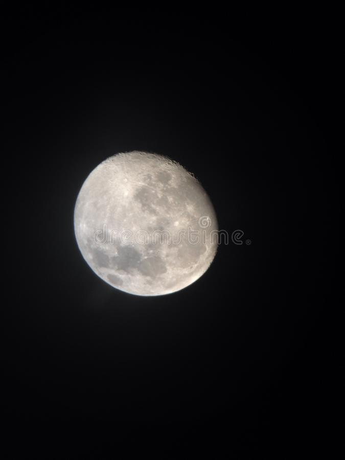 Jaskrawa nocy księżyc zdjęcia stock