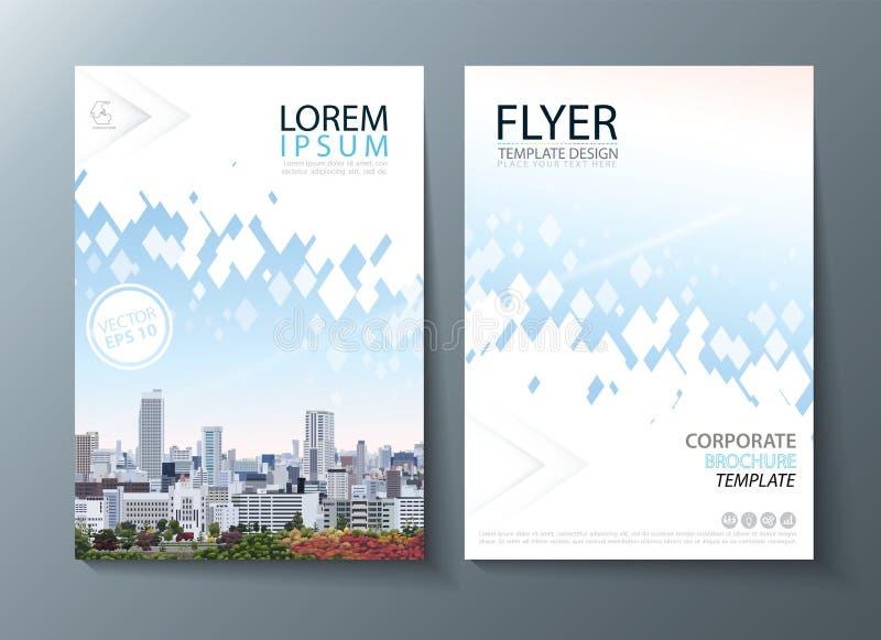 Jaskrawa przyszłościowa wizerunku sprawozdania rocznego broszurka, ulotka projekt, ulotki okładkowej prezentaci abstrakcjonistycz royalty ilustracja