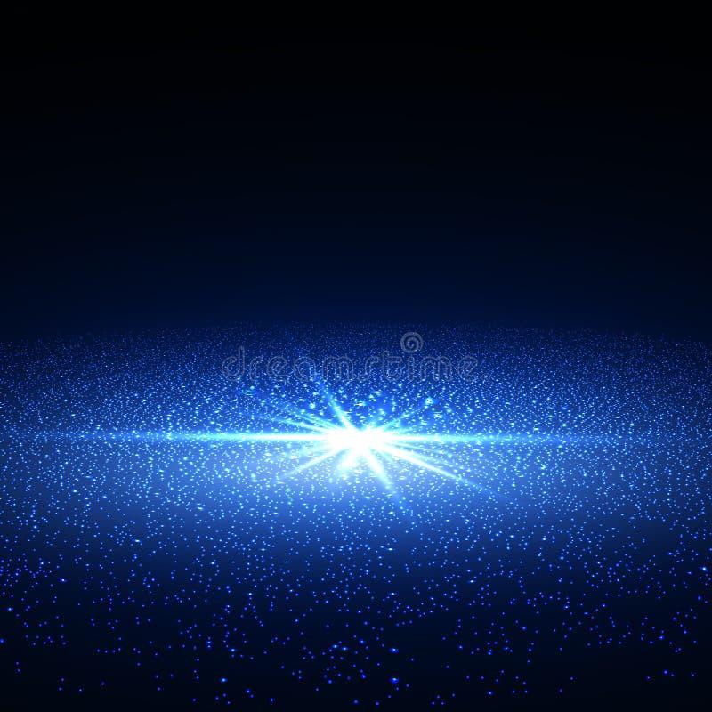 Jaskrawa supernowa szczątek mgławica ilustracji