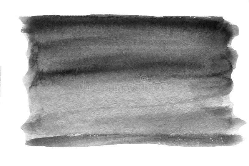 Jaskrawa szara akwareli plama Abstrakcjonistyczna ręka rysujący popielaty akwareli tło zdjęcie royalty free