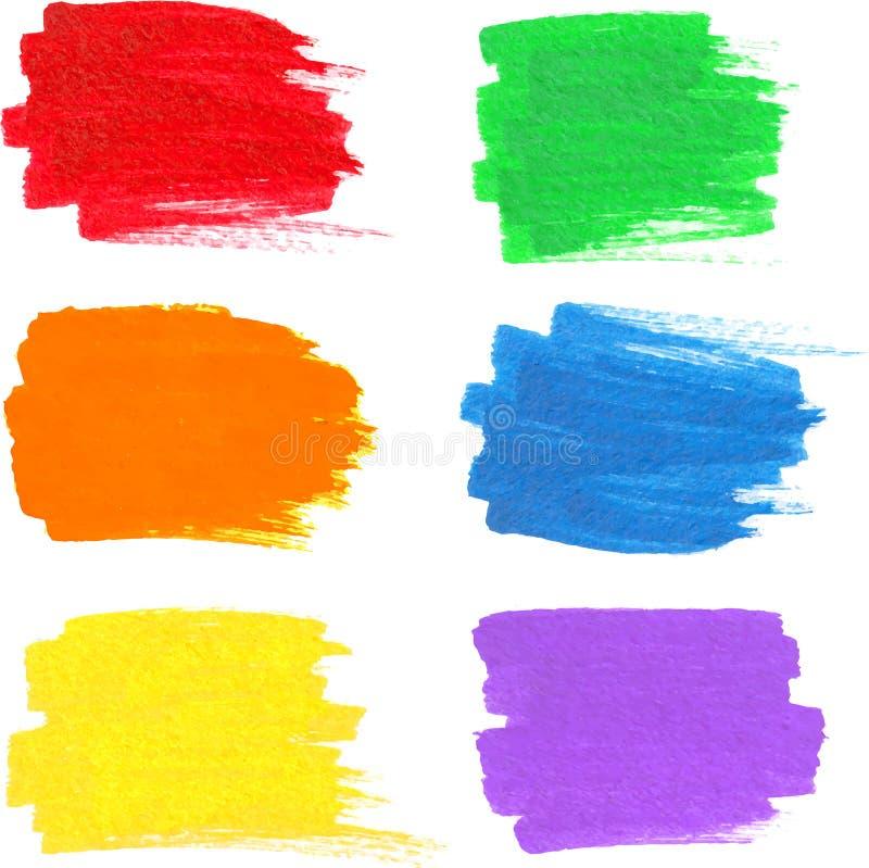 Jaskrawa tęcza barwi wektorowe markier plamy ilustracji