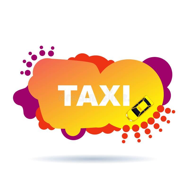 Jaskrawa taxi ulotka od abstrakcjonistycznych elementów royalty ilustracja