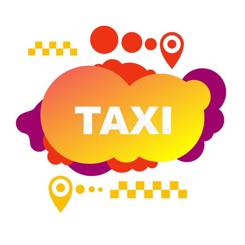Jaskrawa taxi ulotka od abstrakcjonistycznych elementów ilustracji