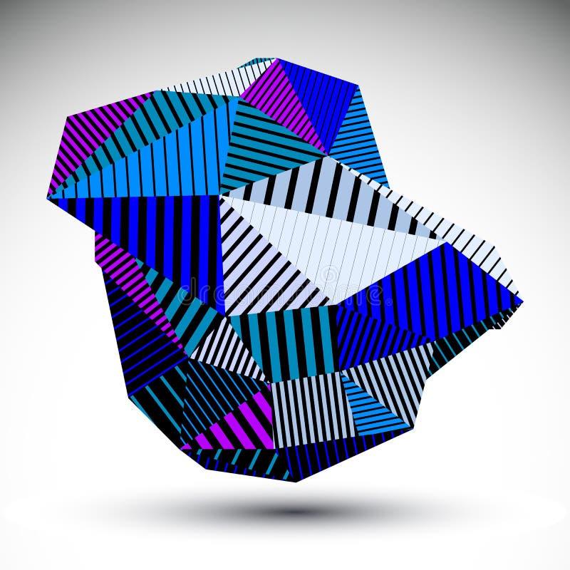 Jaskrawa trójgraniasta abstrakta 3D ilustracja, wektorowy cyfrowy eps8 royalty ilustracja