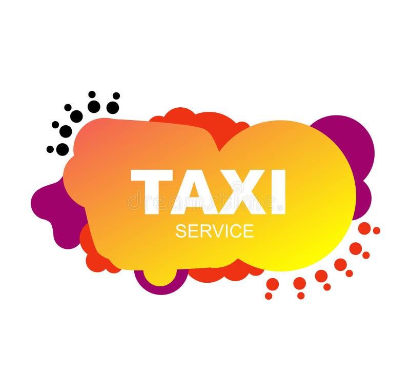 Jaskrawa ulotki taxi usługi naprawa abstrakcjonistyczni elementy ilustracja wektor