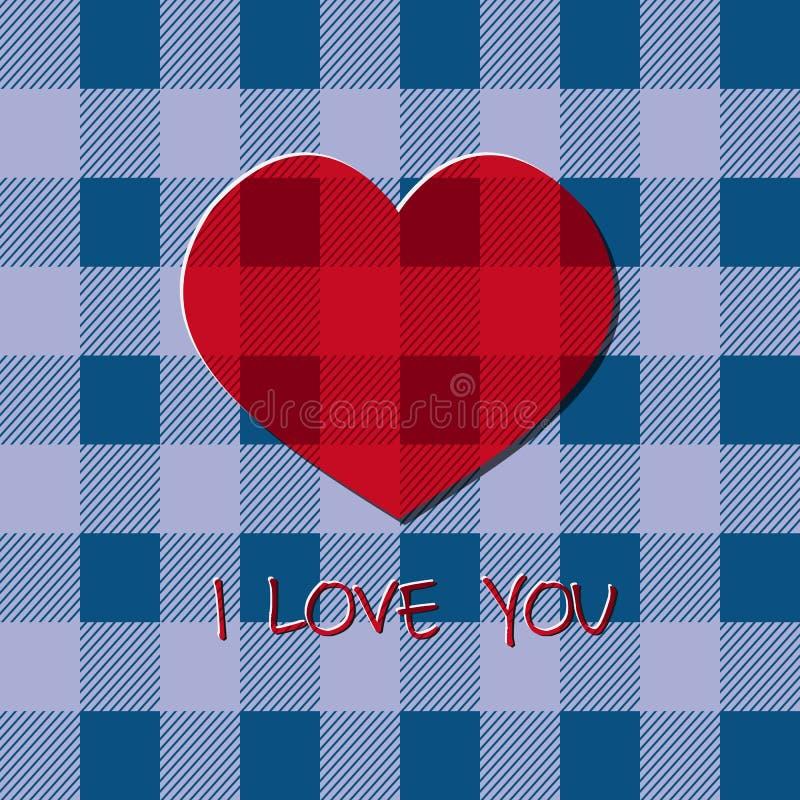 Jaskrawa 2015 walentynki s dnia karta Modnisia projekt Niezwykły uroczy styl Z sercem i tekstem kocham ciebie Może używać jako pl ilustracja wektor