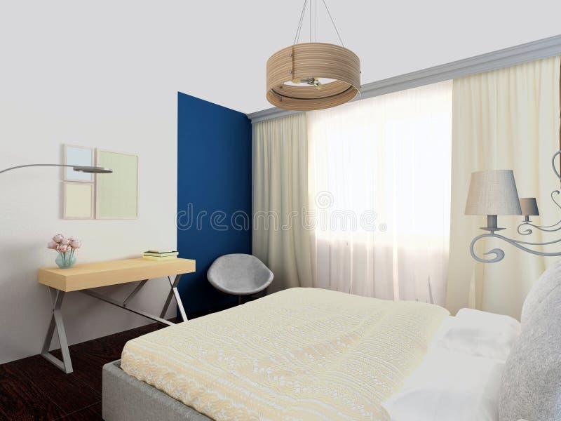 Jaskrawa wygodna sypialnia ilustracja wektor