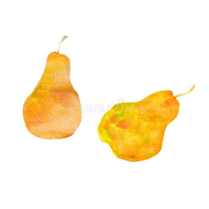 Jaskrawe żółte akwareli bonkrety ilustracji
