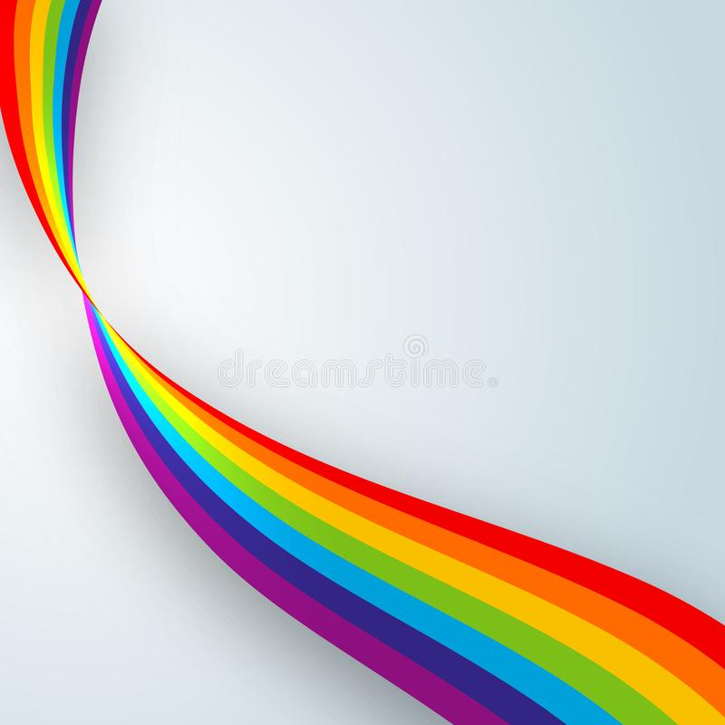Jaskrawe abstrakcjonistyczne faliste linie tęcza barwią na lekkiego tła nowożytnego projekta Kreatywnie elemencie sztandarów szab ilustracji