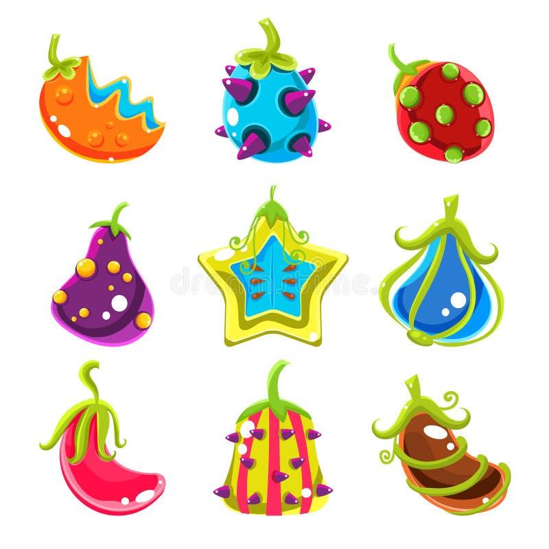 Jaskrawe fantazj owoc, Wektorowa ilustracja royalty ilustracja