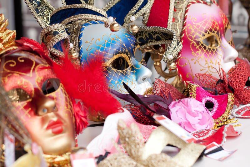 Jaskrawe karnawa? maski fotografia royalty free
