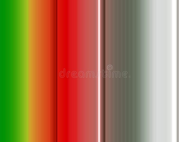 Jaskrawe linie, pomarańcze srebro, zielony tło, grafika, abstrakcjonistyczny tło i tekstura, ilustracja wektor