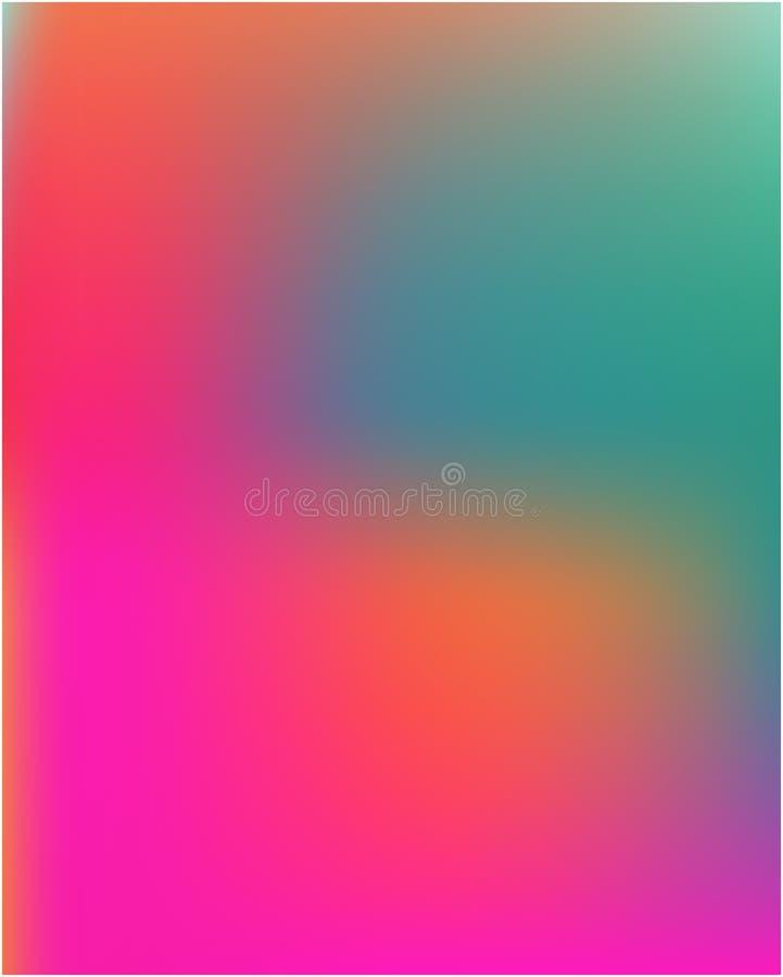 Jaskrawe zamazane grafika od r??norodnych kombinacji kolory i cienie royalty ilustracja