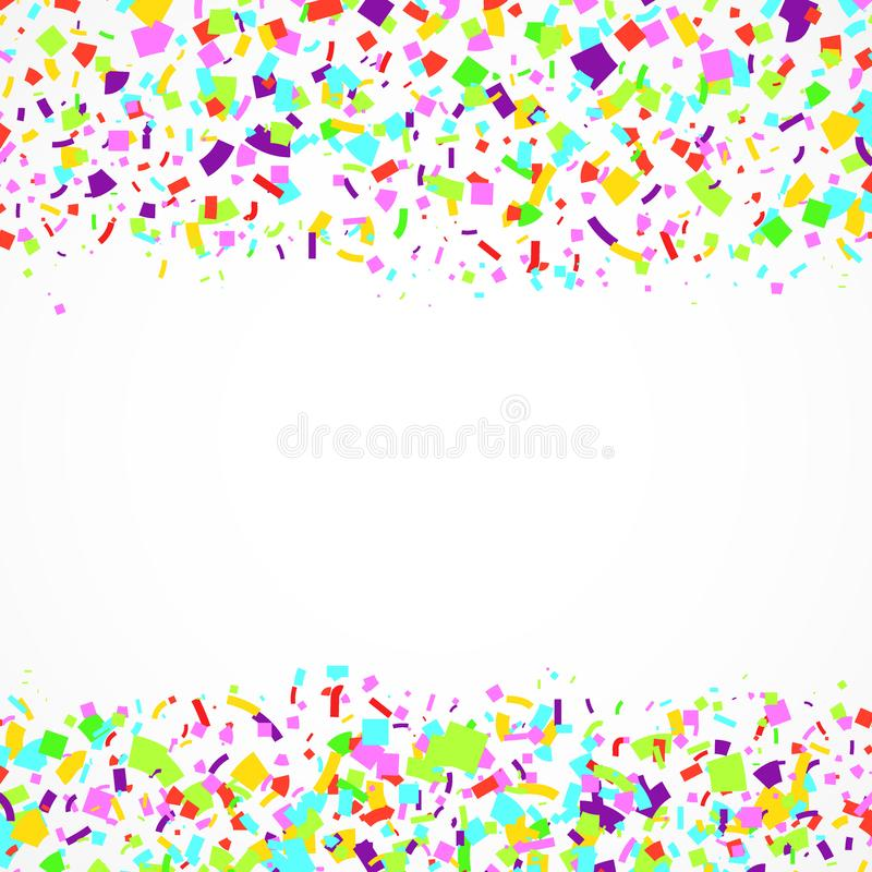 Jaskrawego świątecznego wesoło abstrakta confetti spada kolorowy backgrou ilustracji