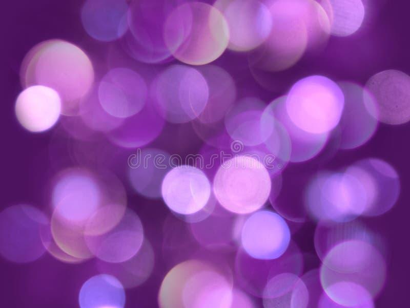 Jaskrawego fiołkowego round świateł miękki jarzy się zamazujący dekoracyjny abstrakcjonistyczny tło zdjęcie stock