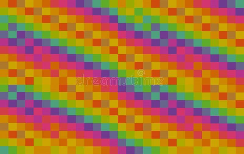 Jaskrawego kolorowego kwadratowego tła abstrakcjonistyczna tekstura żebrował deseniową stubarwną pomarańcz menchii zieleni bloków zdjęcia stock