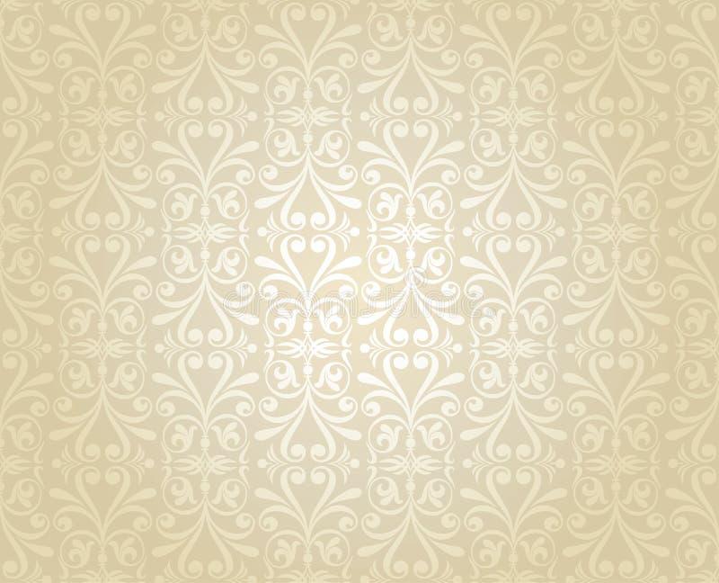 Jaskrawego luksusowego rocznika tapetowy bridal, z?ocisty, Jaskrawy, ?lub, obrazy stock