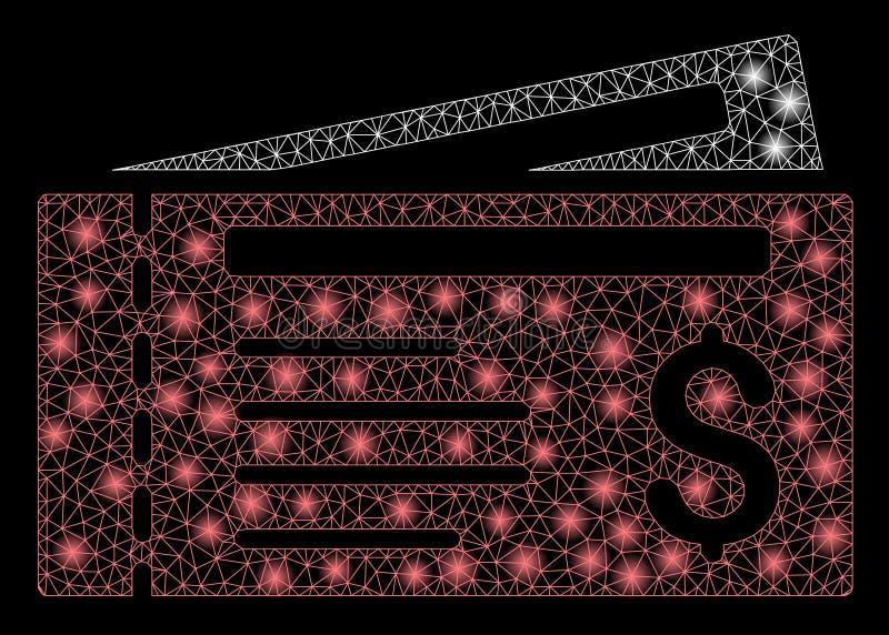 Jaskrawego siatki ścierwa Dolarowe kratki z raców punktami royalty ilustracja
